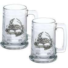 Turtle Beer Stein Set of 2 | Heritage Pewter | HPIST4115