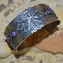 Dragonfly Filigree Cuff Bracelet | Elaine Coyne Jewelry | ASV791BC
