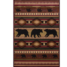 "Bear Area Rug ""Native Bear"" 