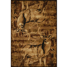 "Deer Area Rug ""American Buck"" 