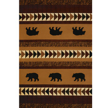 "Bear Area Rug ""Woodcut Bear"" 