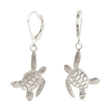 Sea Turtle Sterling Silver  Earrings | Cavin Richie Jewelry | KSE23LB