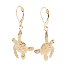 Sea Turtle 14K Gold Earrings | Cavin Richie Jewelry | KGE23LBGLD