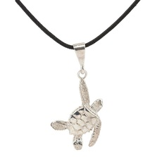 Sea Turtle Silver Pendant Necklace  | Cavin Richie Jewelry | KSN23LPEND