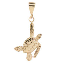 Sea Turtle 14K Gold Pendant | Cavin Richie Jewelry | KGN23LGLD
