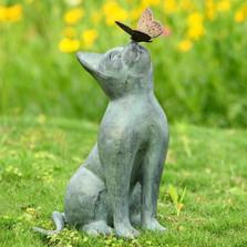 Curiosity Cat Garden Sculpture | 33847 | SPI Home