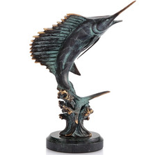 Sailfish Feeding Frenzy Sculpture | 30813 | SPI Home