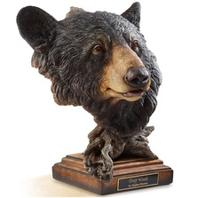 "Black Bear Sculpture ""Deep Woods"" 