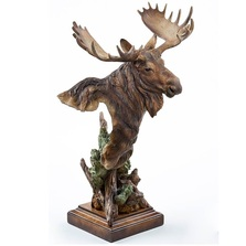 "Moose Sculpture ""Heavy Weight"" 