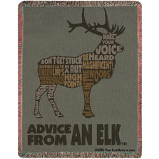 Elk Advice Tapestry Throw Blanket | Manual Woodworkers | ATAEKW