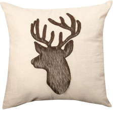 Deer Fur Applique Pillow | Manual Woodworkers | IPKLDF
