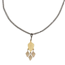 Autumn Birch Four Leaf Pendant Necklace | Michael Michaud Jewelry | 9057GMG