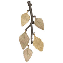 Autumn Birch Leaf Pin | Michael Michaud Jewelry | 5837GMG