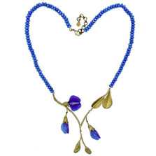 False Indigo Statement Necklace | Michael Michaud Jewelry | 9030BZBJ