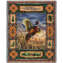 Pheasant Lodge Tapestry Throw Blanket | Pure Country | 3341T