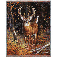 "Deer Tapestry Throw Blanket ""Bad Attitude"" 