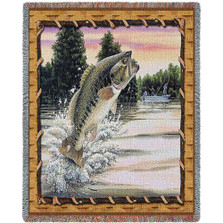 Bass Attack Tapestry Throw Blanket | Pure Country | 3751T