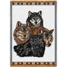 Wolves Tapestry Throw Blanket | Pure Country | 239A