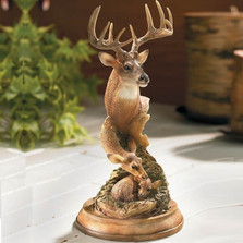 "Deer Family Sculpture ""Endearing Moment"" 