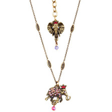 Elephant Charm Pendant Necklace  | La Contessa Jewelry | NK9402FA