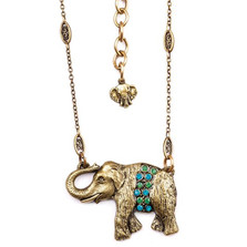 Elephant Pendant Necklace  | La Contessa Jewelry | Mary DeMarco | NK9403GB