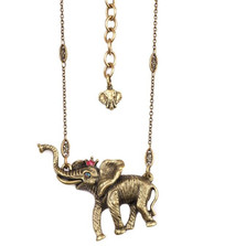 Elephant With Crown Pendant Necklace  | La Contessa Jewelry | NK9404FA