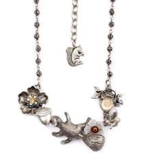 Squirrel Necklace | La Contessa Jewelry | Mary DeMarco | NK9440