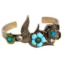 Swallow Cuff Bracelet | La Contessa Jewelry | Mary DeMarco | BR5