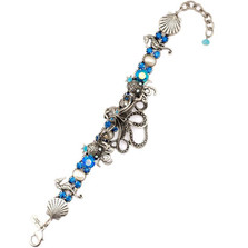 Octopus Blue Bracelet  | La Contessa Jewelry | Mary DeMarco | BR8564BL