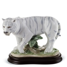 White Tiger Porcelain Figurine | Lladro | 1008465