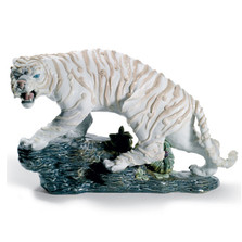 Mythological White Tiger Porcelain Figurine | Lladro | 1008562
