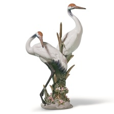 Courting Cranes Porcelain Figurine | Lladro | 1001611