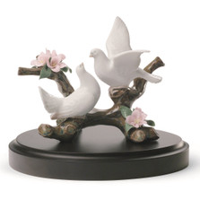Doves On A Cherry Tree Porcelain Figurine | Lladro | 1008422