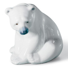 Seated Polar Bear Porcelain Figurine | Lladro | LLA01001209