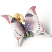"Butterfly Porcelain Figurine "" A Moment's Rest "" 