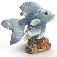 "Fish Porcelain Figurine "" Pond Dreamer "" 