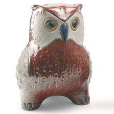 Red Owl Porcelain Figurine | Lladro | LLA01012533