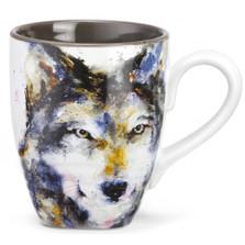 Wolf Stoneware Mug | Big Sky Carvers | Dean Crouser