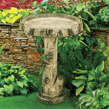 Concrete Birch Birdbath | Stonecasters | HES2297