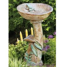 Concrete Mushroom Birdbath | Stonecasters | HES2333