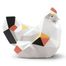 Origami Hen Porcelain Figurine | Lladro | LLA01009267