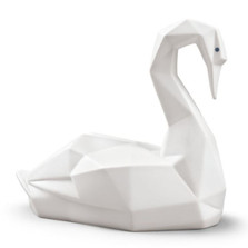 Origami Swan Matte White Porcelain Figurine | Lladro | LLA01009268