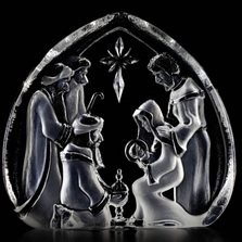 Holy Family Christmas Crib Crystal | Mats Jonasson | Maleras | 33612