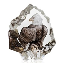 Color Eagle Crystal Miniature Sculpture | 88172 | Mats Jonasson Maleras
