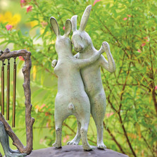 First Dance Rabbit Garden Sculpture | 34544 | SPI Home