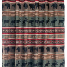Bear and Elk Backwoods Shower Curtain | Carstens  | JB6128