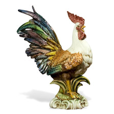 Colored Rooster Ceramic Sculpture | Intrada Italy | CAM9045