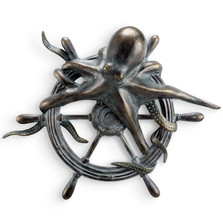 Octopus and Ships Wheel Wall Plaque   34560 -2