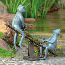 "Frog Garden Sculpture ""Playground Days"" 