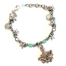 Octopus Single Strand Charm Bracelet | La Contessa Jewelry | BR9172BG-oct